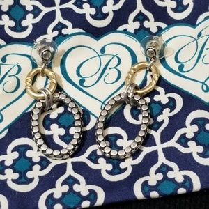 Brighton gold and silver earrings